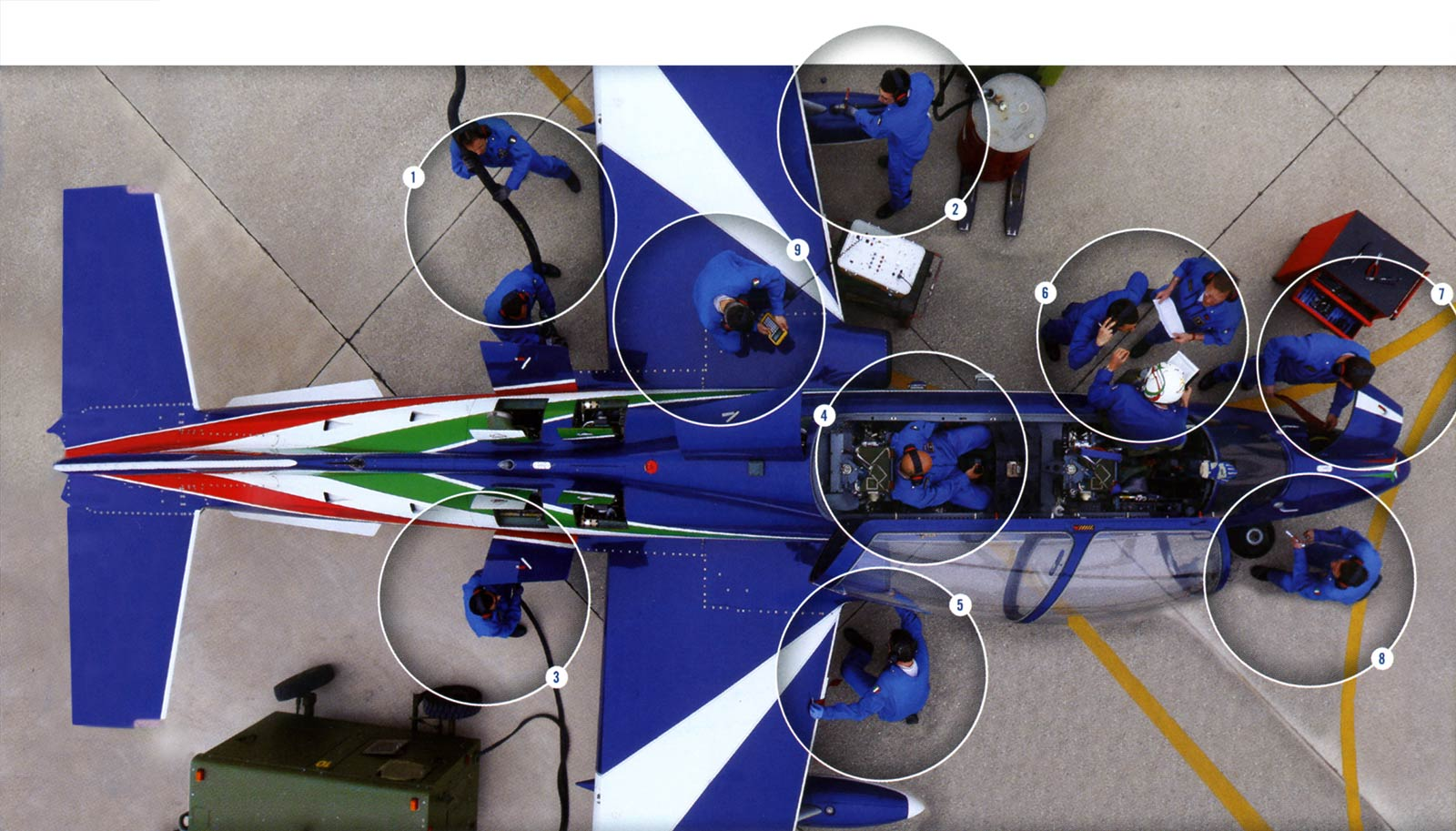 Specialisti e tecnici Frecce Tricolori